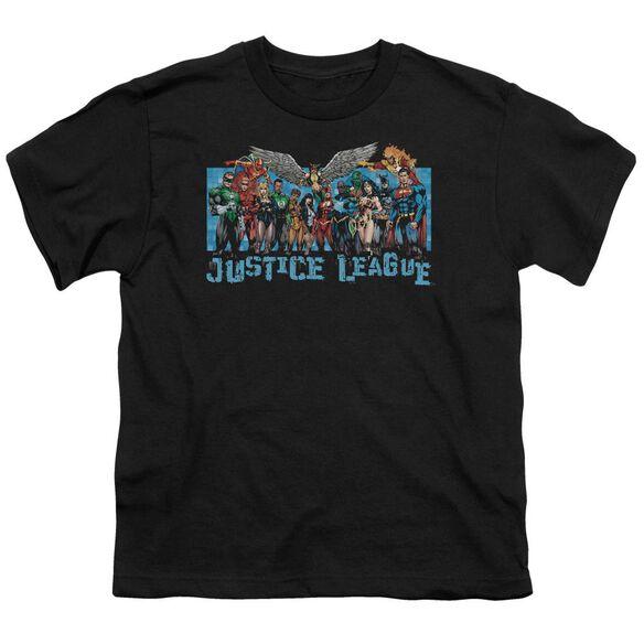 Jla League Lineup Short Sleeve Youth T-Shirt