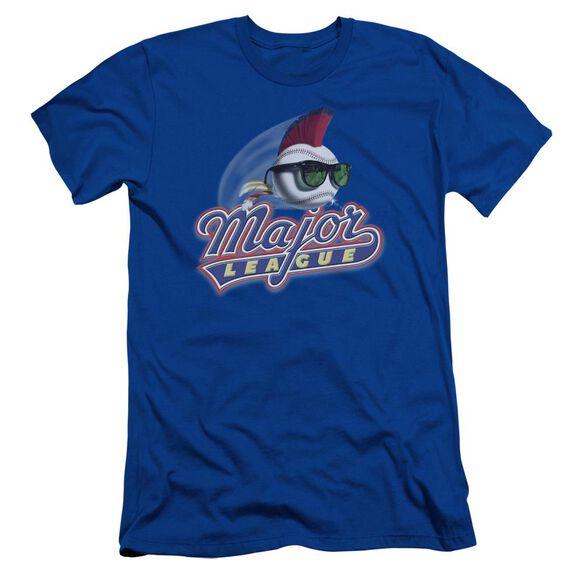Major League Title Short Sleeve Adult Royal T-Shirt
