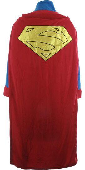 Superman Satin Logo Caped Fleece Robe