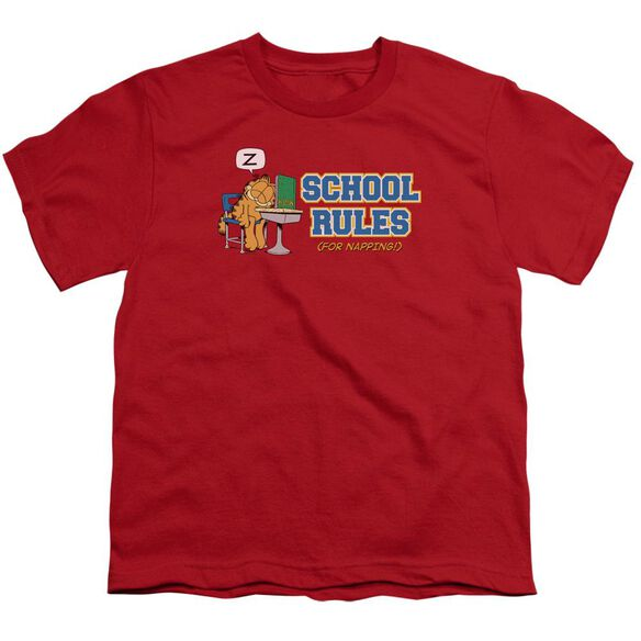 Garfield School Rules Short Sleeve Youth T-Shirt