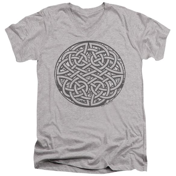 CELTIC KNOT - ADULT V-NECK - ATHLETIC HEATHER T-Shirt