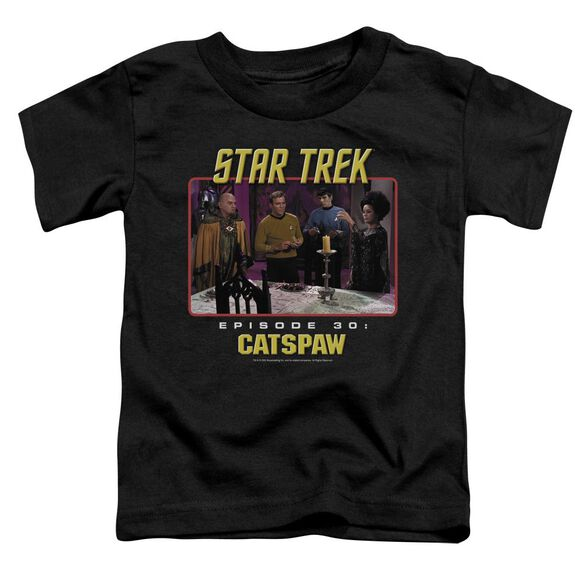 Star Trek Original Cat's Paw Short Sleeve Toddler Tee Black T-Shirt