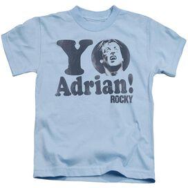 Rocky Yo Adrian Short Sleeve Juvenile Light Blue T-Shirt