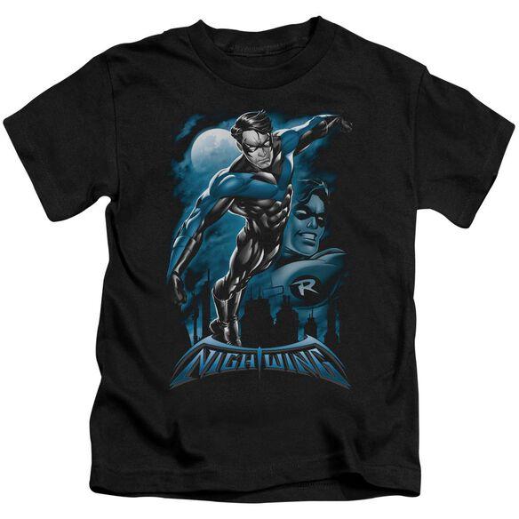 Batman All Grown Up Short Sleeve Juvenile Black T-Shirt