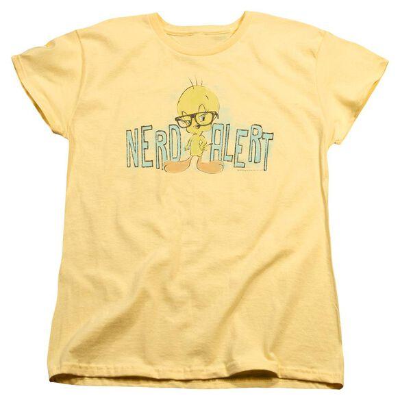 Looney Tunes Nerd Alert Short Sleeve Womens Tee T-Shirt