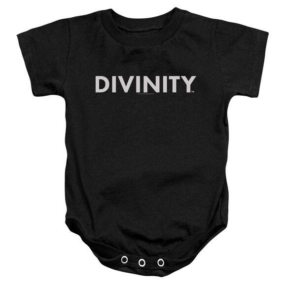 Valiant Divinity Logo Infant Snapsuit Black