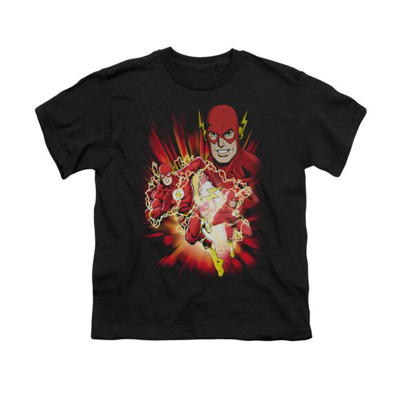 Jla Speed Force Short Sleeve Youth T-Shirt