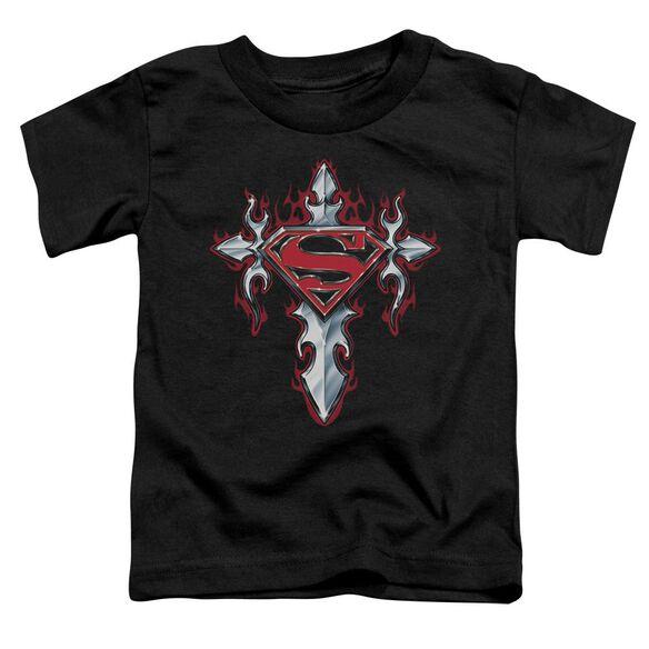 Superman Gothic Steel Logo Short Sleeve Toddler Tee Black Md T-Shirt