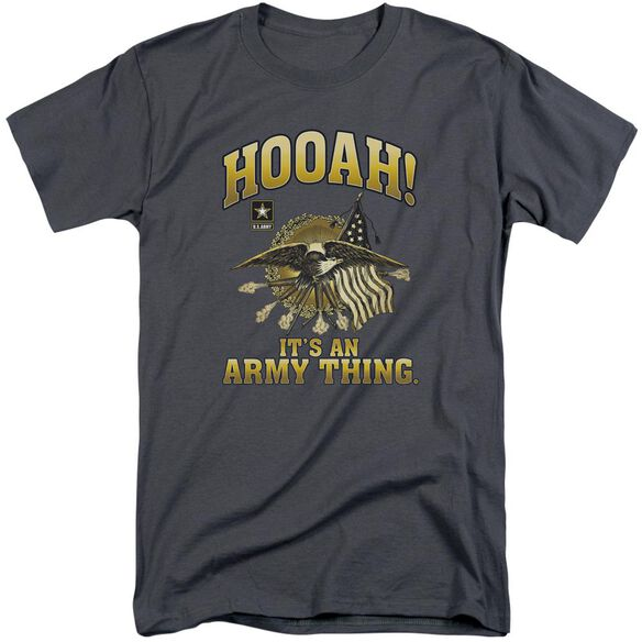 Army Hooah Short Sleeve Adult Tall T-Shirt