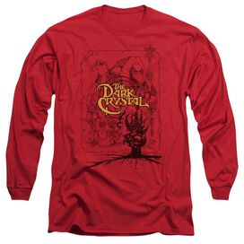 DARK CRYSTAL POSTER LINES - L/S ADULT 18/1 - RED T-Shirt