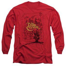 Dark Crystal Poster Lines Long Sleeve Adult T-Shirt