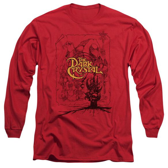 Dark Crystal Poster Lines Long Sleeve Adult T-Shirt