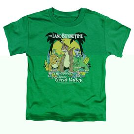 LAND BEFORE TIME GREAT VALLEY - S/S TODDLER TEE - KELLY GREEN - T-Shirt