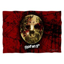 Friday The 13 Th Bloody Mask (Front Back Print) Pillow Case White