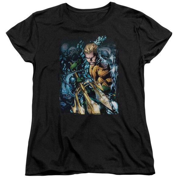 Jla Aquaman #1 Short Sleeve Womens Tee T-Shirt