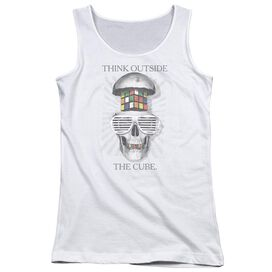 Rubiks Cube Outside The Cube Juniors Tank Top
