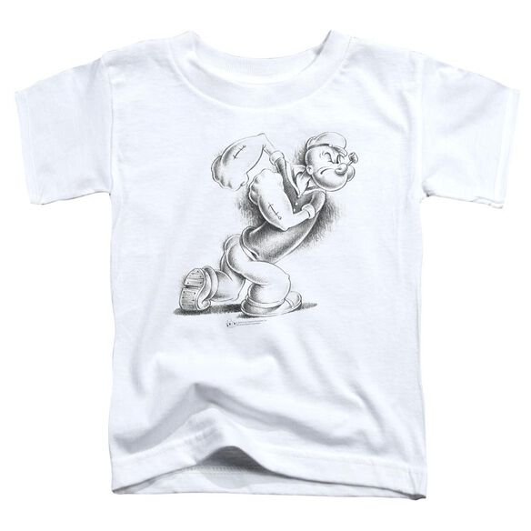 POPEYE HERE COMES TROUBLE - S/S TODDLER TEE - WHITE - T-Shirt