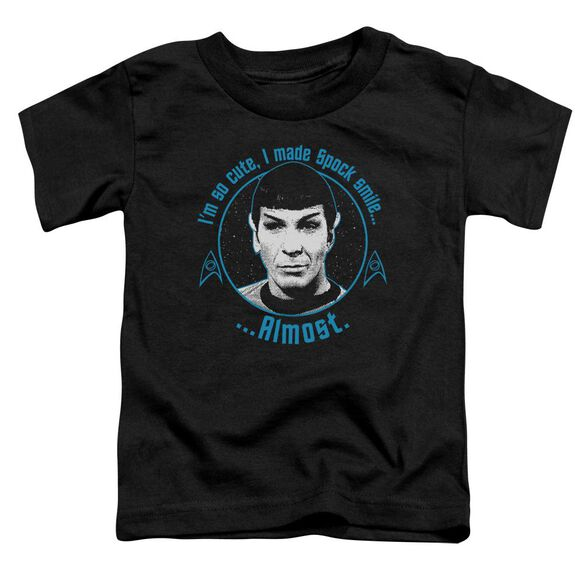 Star Trek Almost Smile Short Sleeve Toddler Tee Black Lg T-Shirt
