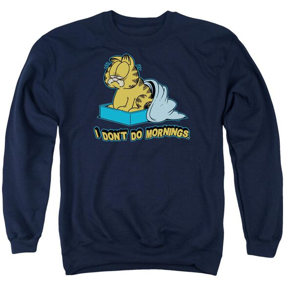 Garfield I Don'T Do Mornings Adult Crewneck Sweatshirt