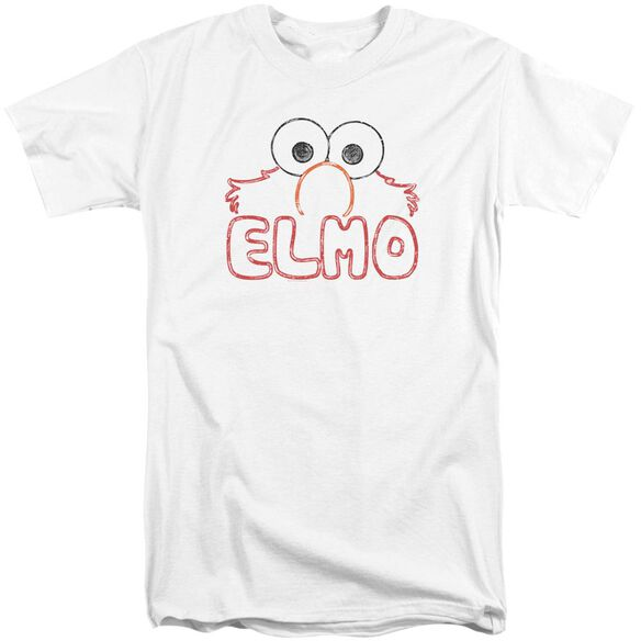 Sesame Street Elmo Letters Short Sleeve Adult Tall T-Shirt