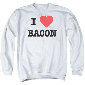 I Heart Bacon Adult Crewneck Sweatshirt