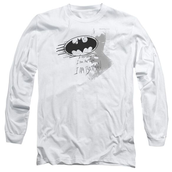 Batman I Am Vengeance Long Sleeve Adult T-Shirt