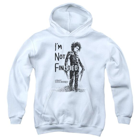 Edward Scissorhands Not Finished Youth Pull Over Hoodie
