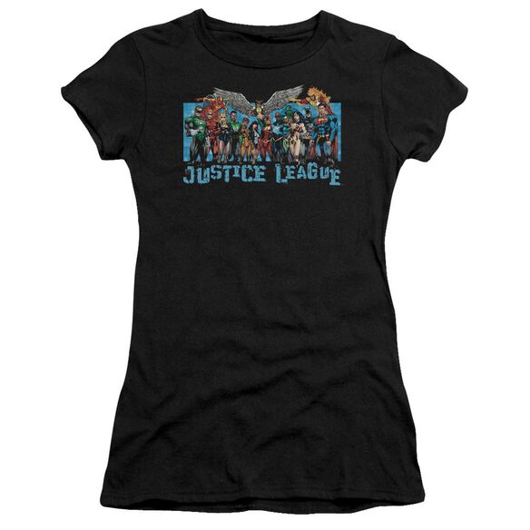 Jla League Lineup Short Sleeve Junior Sheer T-Shirt