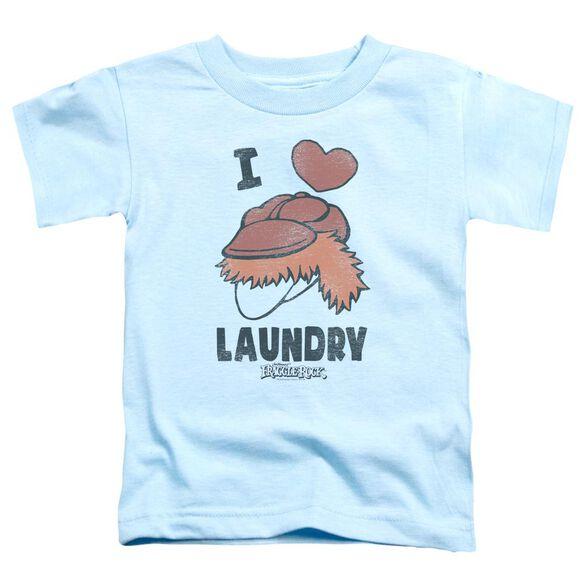 Fraggle Rock Laundry Lover Short Sleeve Toddler Tee Light Blue T-Shirt