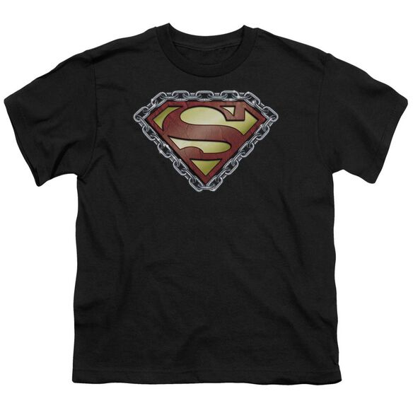 Superman Chained Shield Short Sleeve Youth T-Shirt