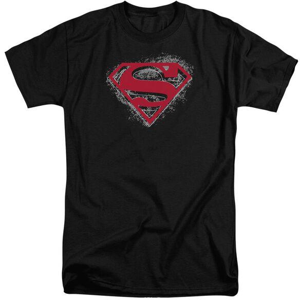 Superman Hardcore Noir Shield Short Sleeve Adult Tall T-Shirt