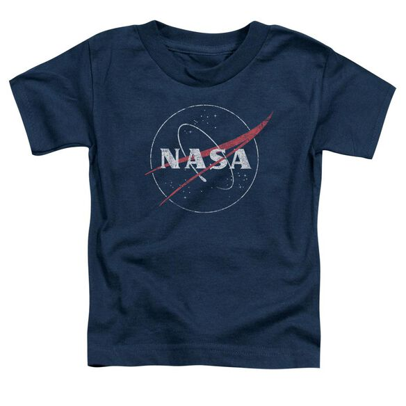 Nasa Distressed Logo Short Sleeve Toddler Tee Navy T-Shirt
