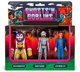 Ghost n' Goblins Arthur, Astaroth & Zombie Action Figure [3-Pack]