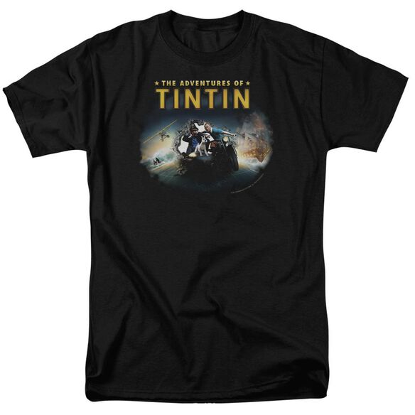 Tintin Journey Short Sleeve Adult T-Shirt