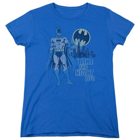 Dc Night Life Short Sleeve Womens Tee Royal T-Shirt