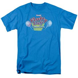Tootsie Roll Fluffy Stuff Logo Short Sleeve Adult Turquoise T-Shirt