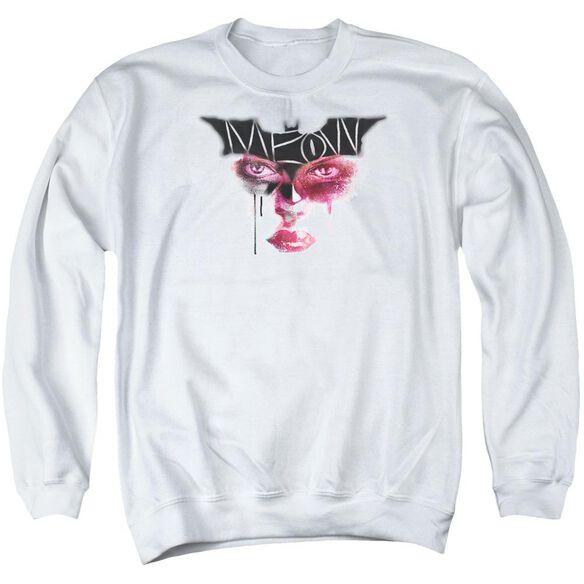 Dark Knight Rises Meow Adult Crewneck Sweatshirt