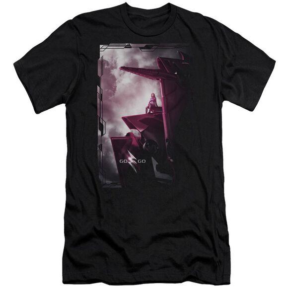 Power Rangers Pink Zord Poster Short Sleeve Adult T-Shirt