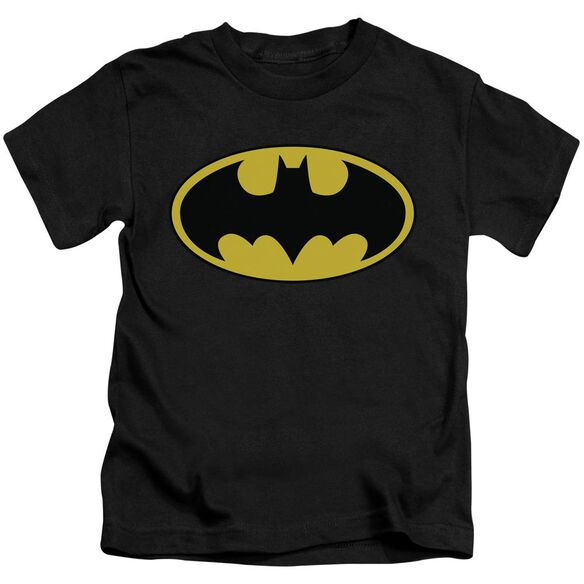 Batman Classic Logo Short Sleeve Juvenile Black T-Shirt