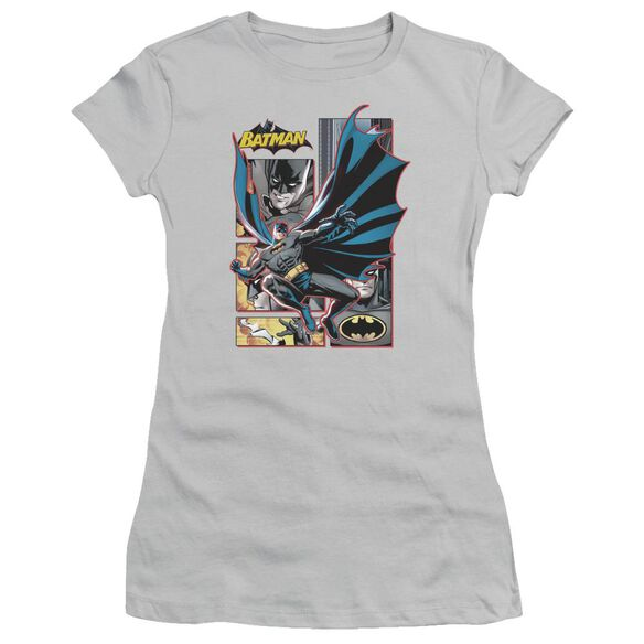 Jla Batman Panels Short Sleeve Junior Sheer T-Shirt
