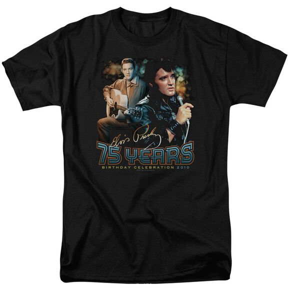 Elvis 75 Years Short Sleeve Adult T-Shirt
