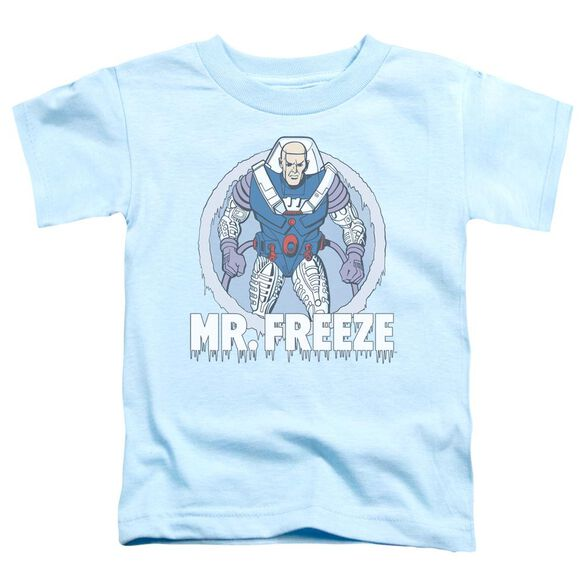 Dc Mr Freeze Short Sleeve Toddler Tee Light Blue T-Shirt
