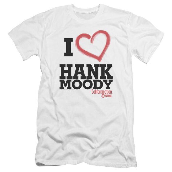 Californication I Heart Hank Moody Premuim Canvas Adult Slim Fit