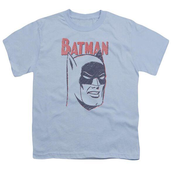 Batman Crayon Man Short Sleeve Youth Light T-Shirt