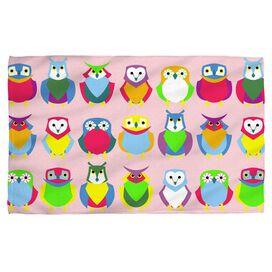 Owls Face Hand Towel