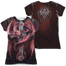 Anne Stokes Gothic Guardian (Front Back Print) Short Sleeve Junior Poly Crew T-Shirt