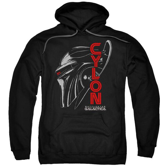 Bsg Cylon Face Adult Pull Over Hoodie