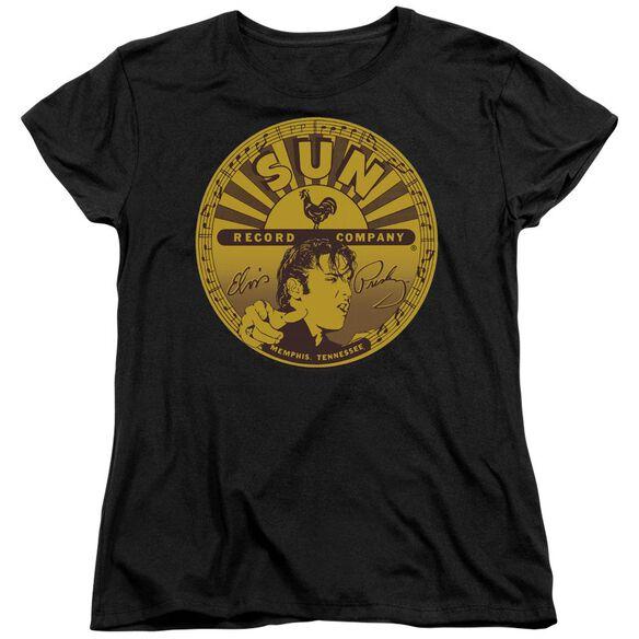 Sun Elvis Full Sun Label Short Sleeve Womens Tee T-Shirt