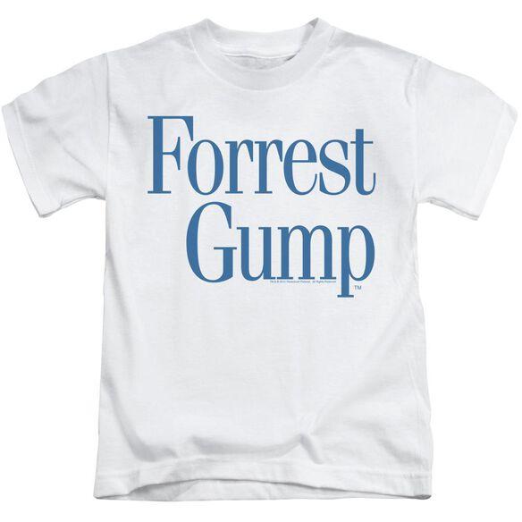 Forrest Gump Logo Short Sleeve Juvenile White T-Shirt
