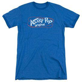 Astro Pop Vintage Logo Adult Heather Ringer Royal Blue